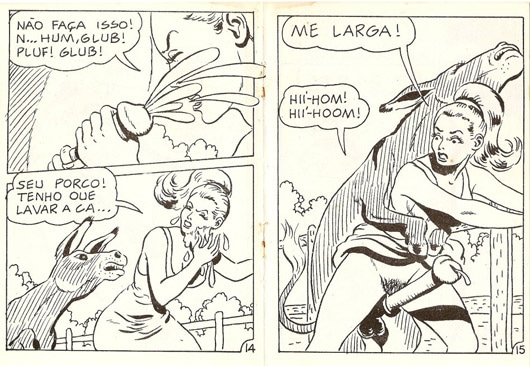 ArtOfZoo Donkey Sex Comic Tijuana Bible