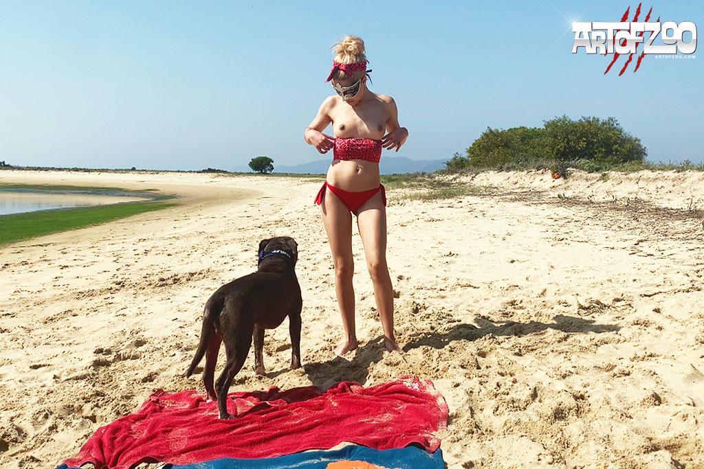 Art Of Zoo - Donna - Beach Bitch - dog porn movie